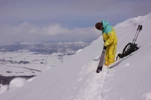 Skier: Shin Itoh Photo: Yoshiko Itoh Skis:Whitedot CarbonLite Director Gen2